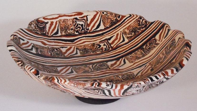 MyWork – Page 2 – Chez Suzan Ceramics. Unique Handbuilt Agate and Nerikomi  pottery.